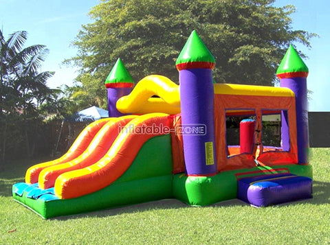 Interesting infatable bounce house water slide
