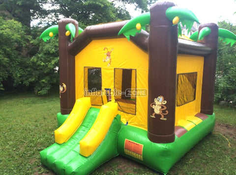 Brilliant quality inflatable bounce house water slide