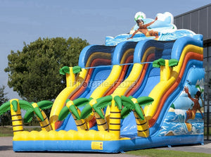 Super colorful slides inflatable,inflatable boat water slides for water games