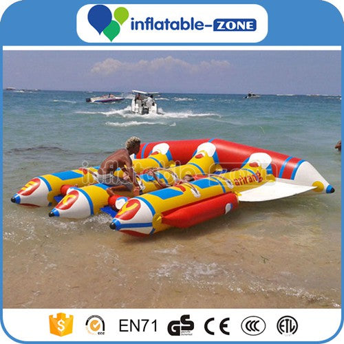 Free Shipping,Inflatable Flying Fish Boat towables toys for water tours,inflatable zone tm