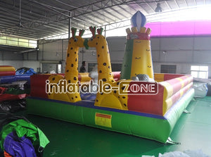 Free shipping rock climbing 6*4*4m inflatable bounce house for sale