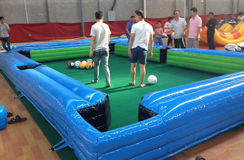 Free Shipping,Inflatable Bumper Pool Games With 16 Footballs for sale