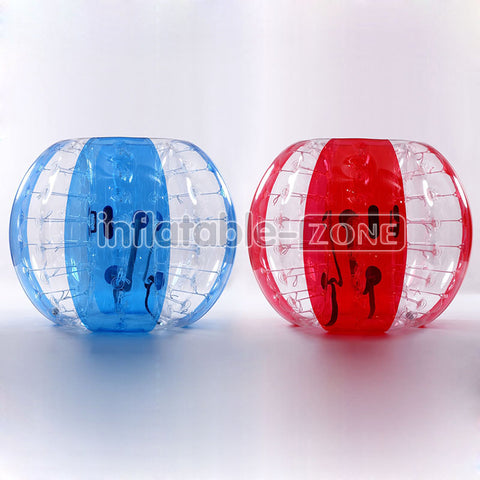 Super Deal, 5 Red Flower, 5 Blue Flower 1.5m Bubble Soccer Ball For Team Game, 1 Free Pump