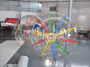 High quality 1.8m color strips water sphere ball to buy sooner