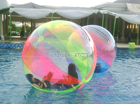 Inflatable water ball ball that bounces on water