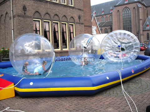 Ball that skips on water human hamster ball for water