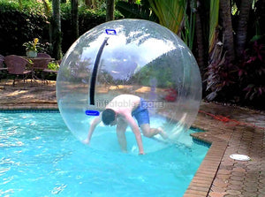 Ball that skips on water, human hamster ball for water