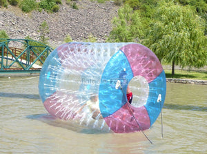 Nice quality inflatable roller wheel, water roller ball for rent here