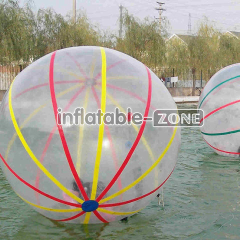 Colored ribbon Inflatable Water Walking Ball