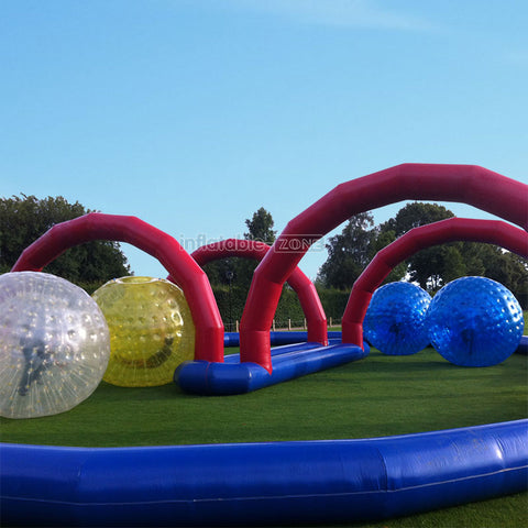 Super Fun, 4pcs Best Zorb Ball Team Play Game For Party Event Park Zorbing Ball Games With Tunnel