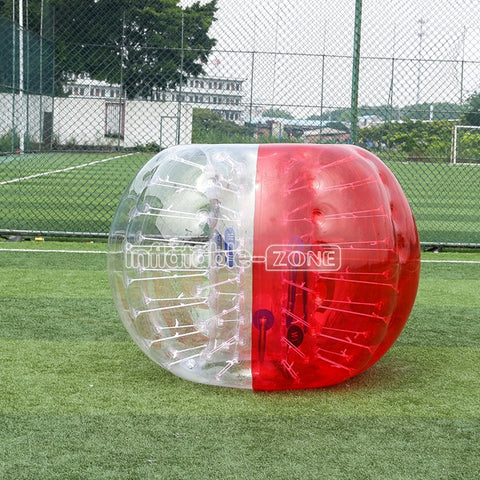 Hot Half Red Full Body Zorb Ball Game, 1.5m Inflatable Zorb for Sale