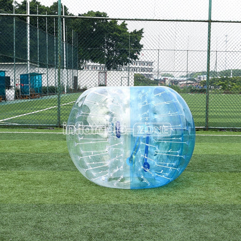 Best Team Play Human Soccer Ball for Sale,1.5m Half Blue wholesale Zorb Balls