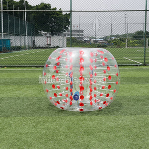 Free Logo 1.5m Red Dot Bubbule Socer Balls,Zorb Ball for Sale
