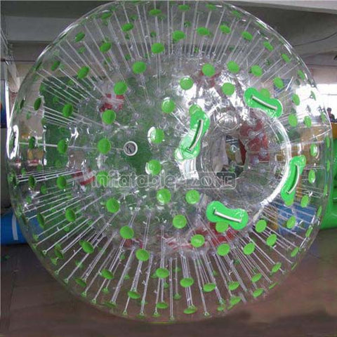 Buy 2.5m green dot land zorbing to know zorbing meaning Inflatable Zone TM