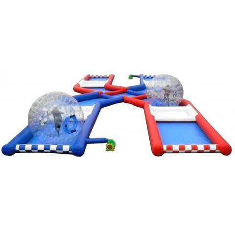Free Shipping, Funny Zorb Race Track For Zorbing Ball Games