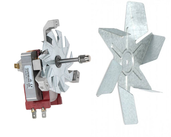 Oven Cooker Main Motor & Cooling Fan Kit for Beko OSF22130SX OSF22130X OSF22135S