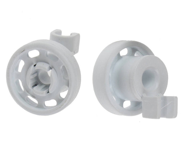 2 x Dishwasher Top Upper Basket Rail Wheels For Hotpoint Indesit C00247530
