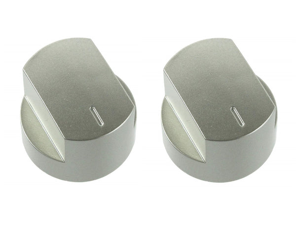2 x Main Oven Silver Control Knob for Stoves Hob Cookers 444445111 012640584