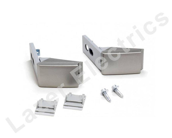 Pair of Silver Hinges for Liebherr Fridge Freezer Door Handle Repair Kit 9590178