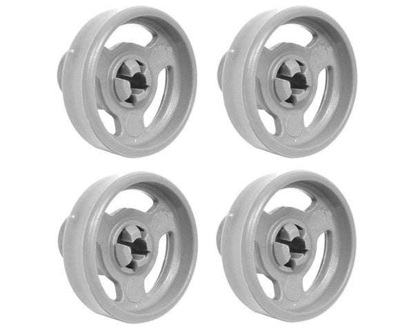 4 x Genuine Baumatic BDW11 BDW13 BDW15 Lower Basket Rack Wheel Dishwasher Spares