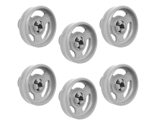 Genuine Lower Basket Wheels 35mm For Indesit IDL40 Dishwasher (Pack of 6)
