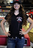 Just Get Dirty Woman's Drag racing tee