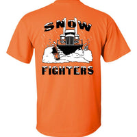 Snow Fighters Tee-Safety Orange or Green