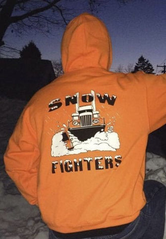 Snow Fighters Hoodie-Safety Orange