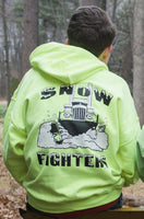 Snow Fighters Hoodie-Safety Green