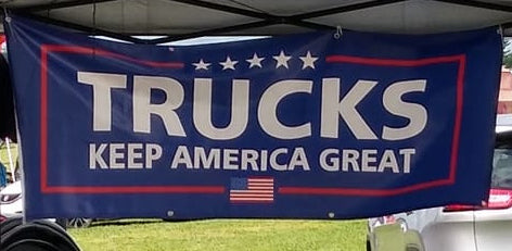 Trucks Keep America Great Banner-2'x6'