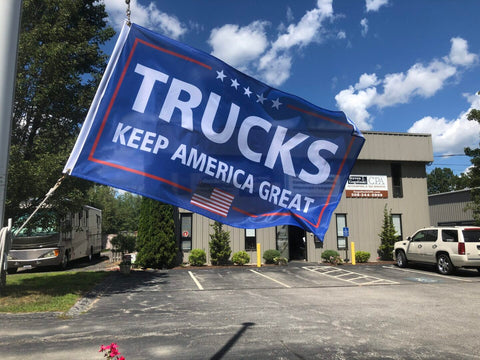 Trucks Keep America Great Flag - 3'x5'