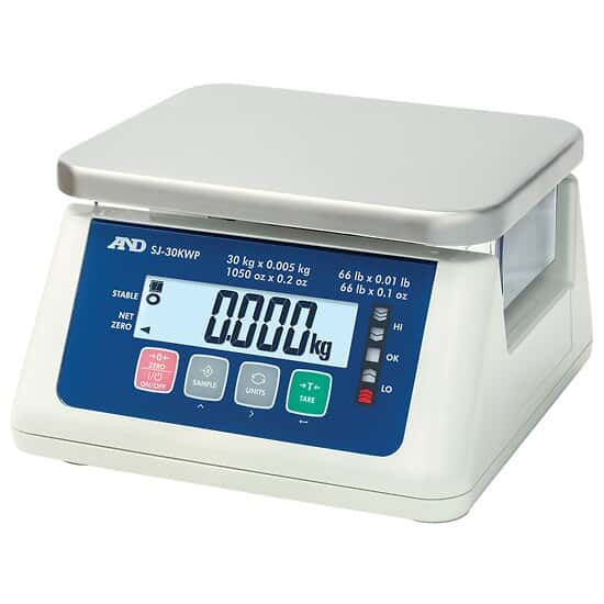 AND Weighing SJ-3000WP Washdown Compact Scale