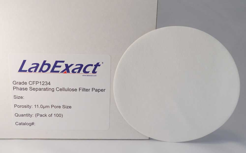 IW Tremont CFP1234-0900 Phase separating cellulose filter paper, fast flow, 9.0cm dia, 100/pk