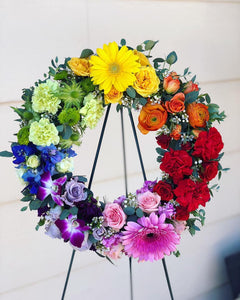 Rainbow Floral Wreath