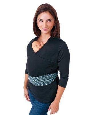 Nuroo Pocket Babywearing Shirt + Support Belt Black XS/S - Healthy Horizons Breastfeeding Centers, Inc.