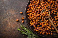 Roasted Chickpea Crisps Recipe- Spicy Organic