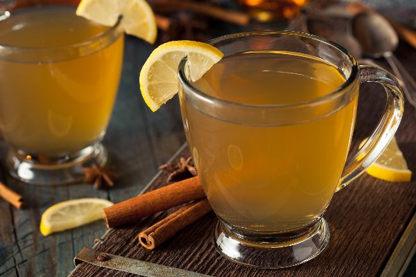Hot Toddy with organic cassia cinnamon whole
