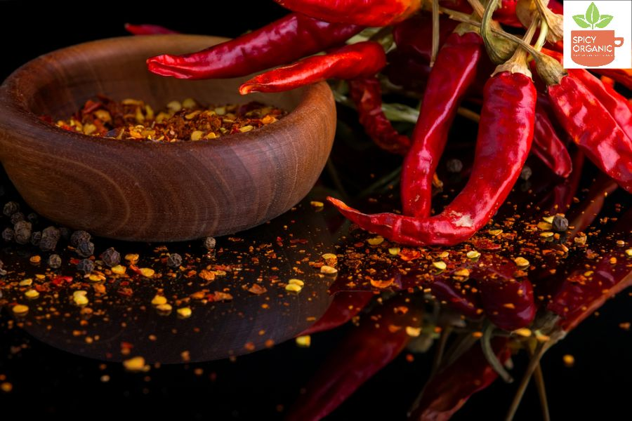 Which Red Chilies are used to make Red Chilli Pepper Flakes?