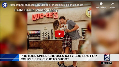 Engagement Photo of Buc-ee's