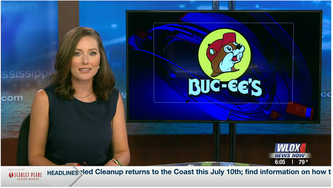 WLOX coverage of Buc-ee's plans to open a location in Mississippi