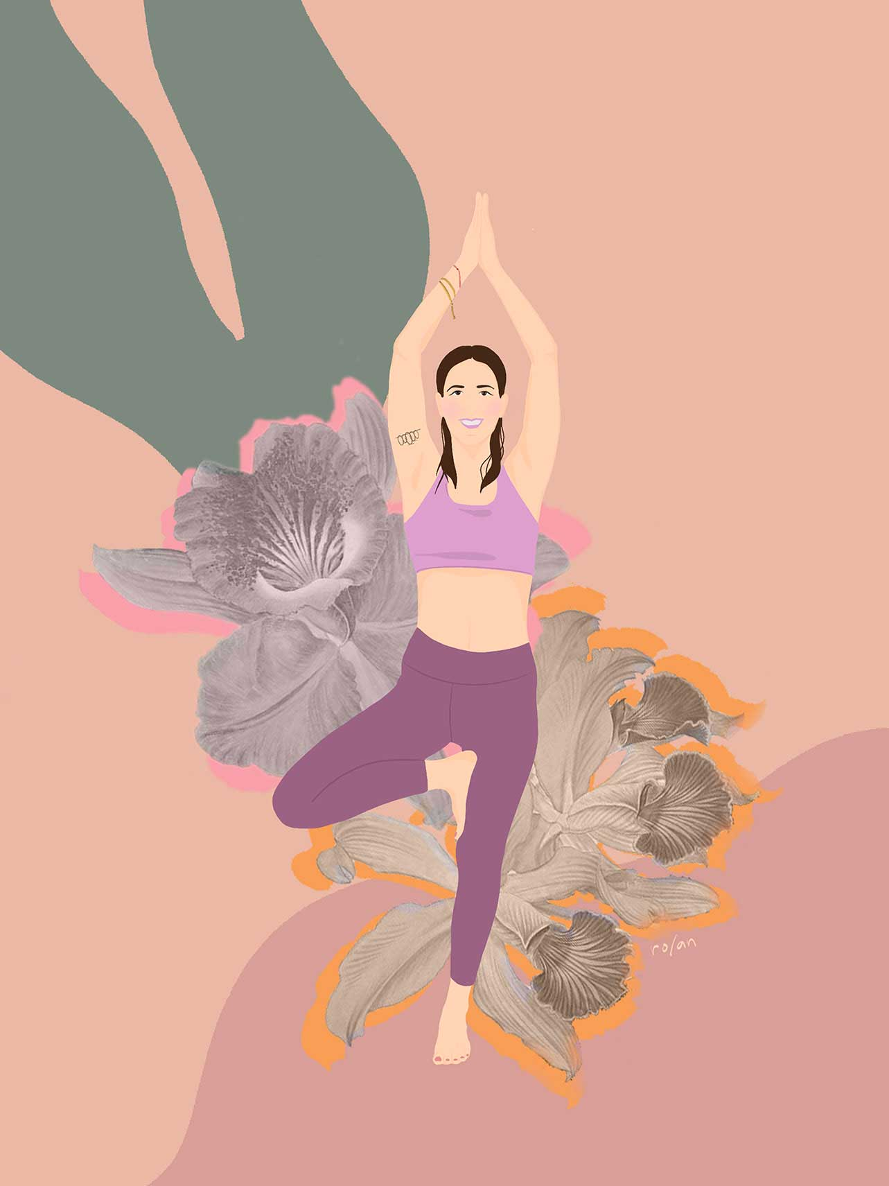 ro/an yoga illustration HER yoga for hormones and fertility