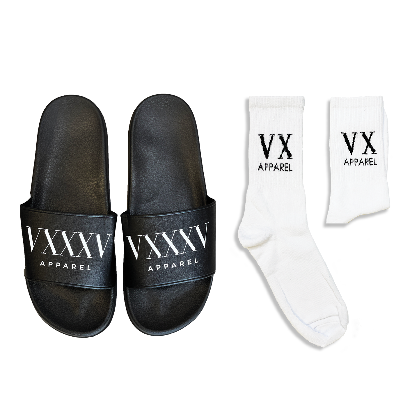 VX Socks & Comfort Slides Bundle