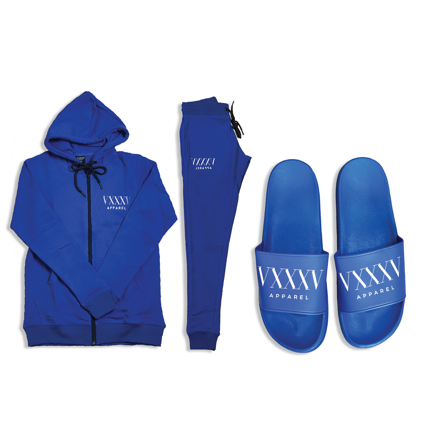 Sweatsuit & Comfort Slides Bundle