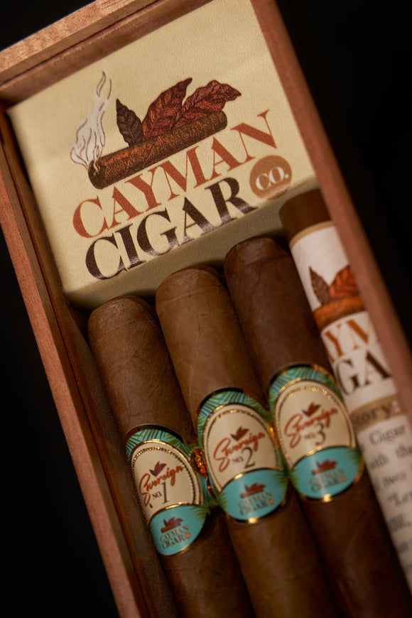 3 Pack Boxed Cigars | 1 Diplomat Robusto, 1 Corona, 1 Monarch