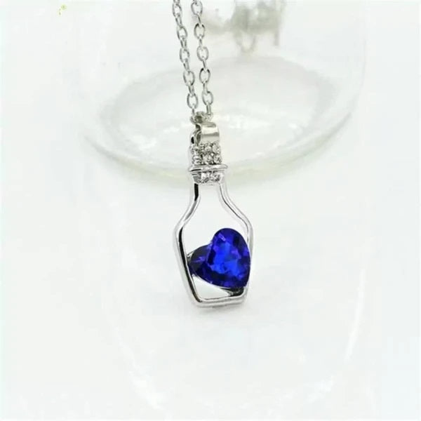 Women Crystal Heart Necklace