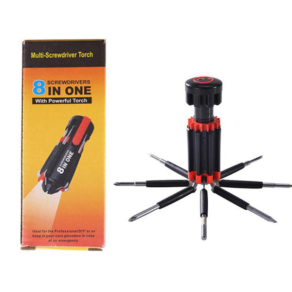 8 In 1 Multi Screwdriver With Torch