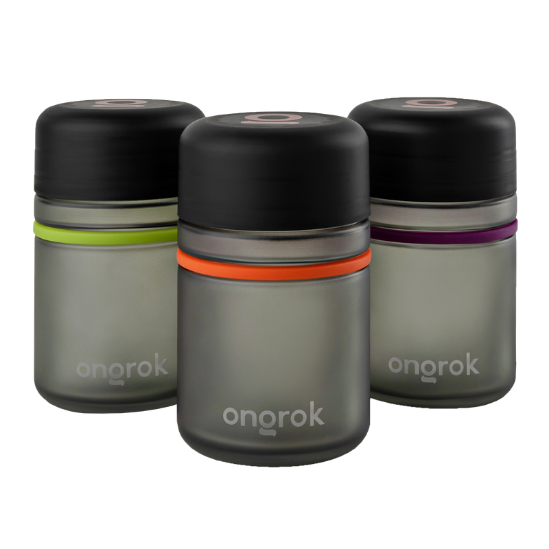 ONGROK Child Resistant 180ml Storage jar | 3 pack