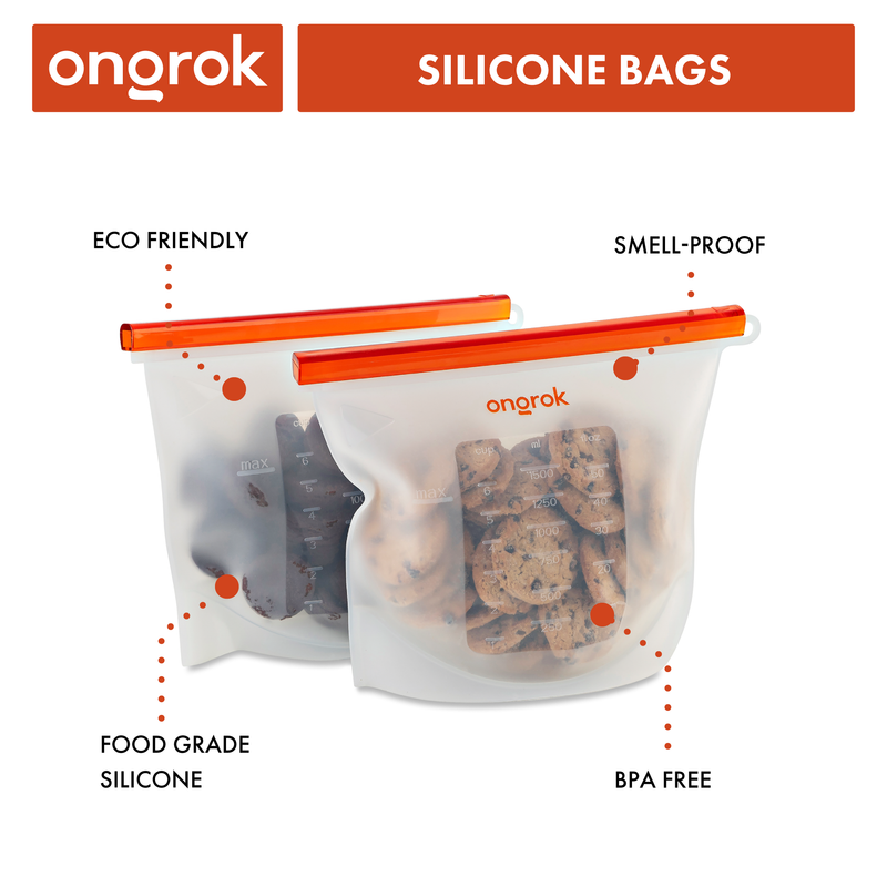 ONGROK Air-Tight Silicone Decarb Storage Bags | 2 Pack