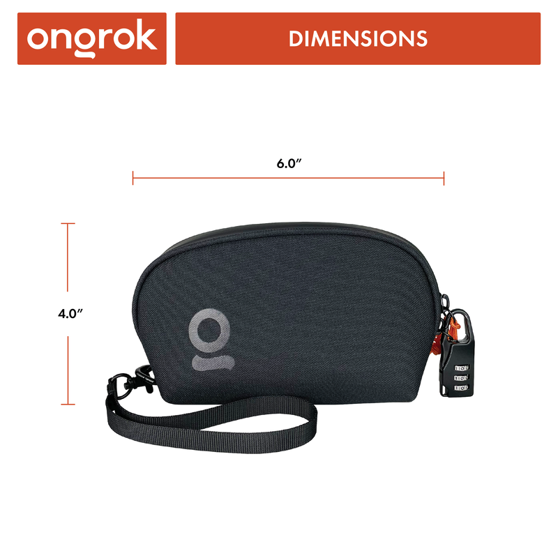 ONGROK Smell Proof Wrist Bag with Lock