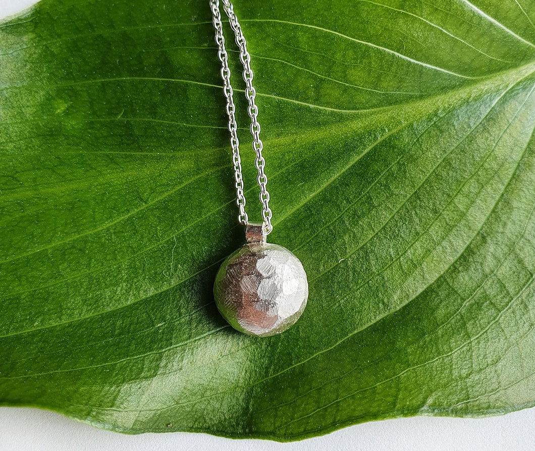 Full Moon Pure Silver Necklace